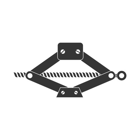 hydraulic: jack mechanical tool lever car hydraulic machine vector graphic isolated and flat illustration