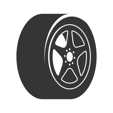 rim: rim car wheel tire metalic modern mechanical disk vector graphic isolated illustration Illustration
