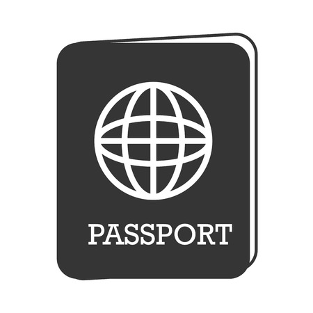 emigration: passport identification world travel countries map emigration pass vector graphic isolated and flat illustration