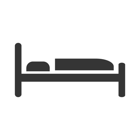 bed icon symbol sleep night hotel motel vector graphic illustration isolated and flat