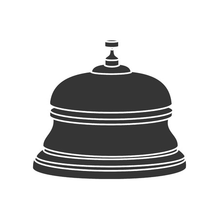 reception bell hotel ring button service lobby vector graphic isolated illustration Illustration