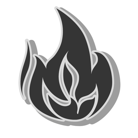 flaming: fire flame burn hot heat flaming vector graphic isolated illustration
