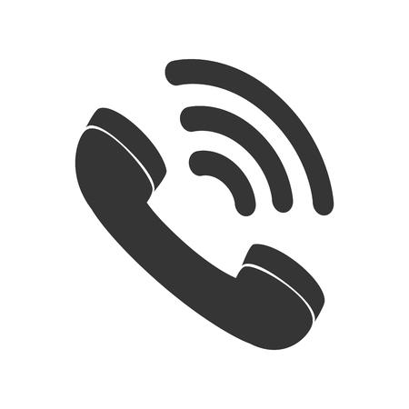 bakelite: telephone handset talking phone communication line call vector speaker loud graphic isolated and flat illustration