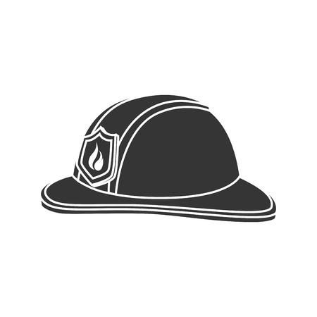 public servants: hat fireman fire department cap equipment firefighter vector graphic isolated illustration Illustration