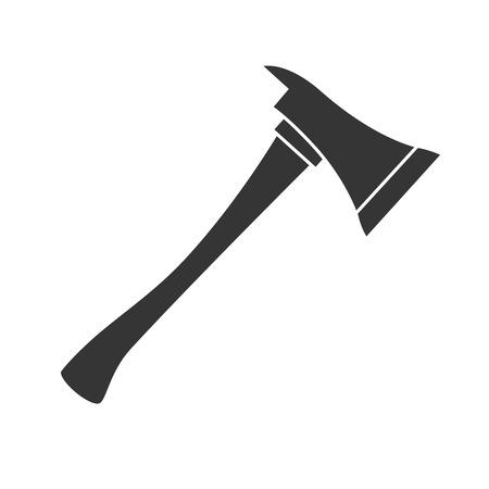 bijl brandweerman staal bijl houten handvat houwer vector grafische geïsoleerde illustratie