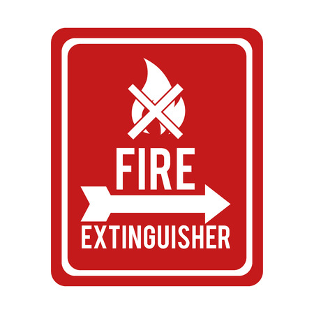 flammable warning: flame fire sign flammable danger prohibitted warning burn vector graphic isolated illustration Illustration