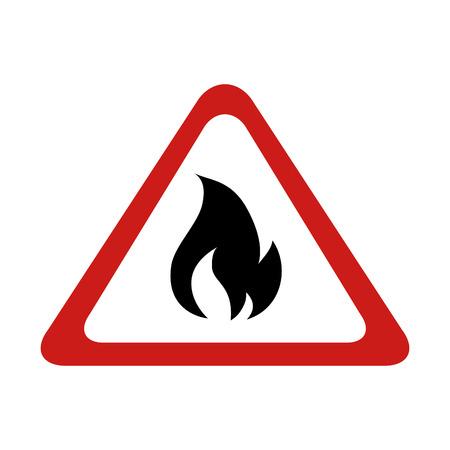 advertencia quemadura llama signo de fuego llameante en llamas gráfico vectorial ilustración