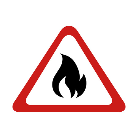 flame sign fire burn warning flaming flaming vector graphic isolated illustration Illustration