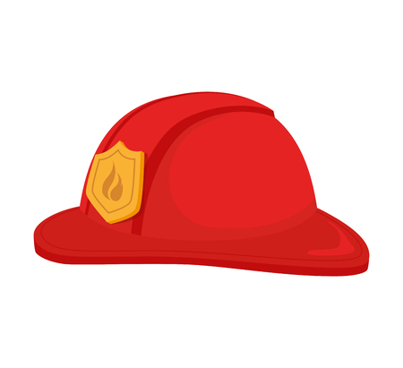 resistant: hat fireman fire department cap equipment firefighter vector graphic isolated illustration Illustration