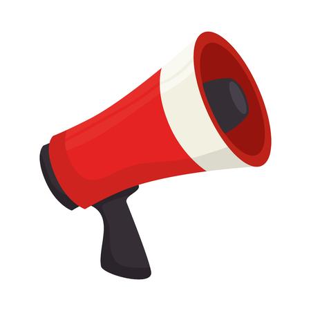 メガホン話すデバイス大声で発表放送シンボル ベクトル グラフィック孤立した図  イラスト・ベクター素材
