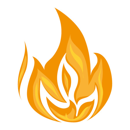 burn: fire flame burn hot heat flaming vector graphic isolated illustration