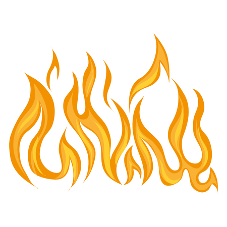 brand flaming branden warm vuur brandende vector grafische geïsoleerde illustratie Stock Illustratie