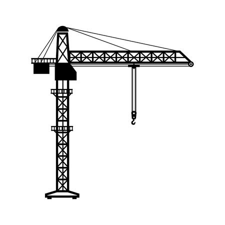 kraantoren machinary haak hang bouw industriële vector grafische geïsoleerde illustratie