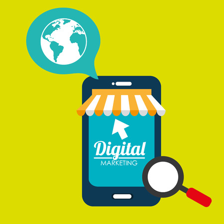 eart: marketing digital smartphone store vector illustration graphic