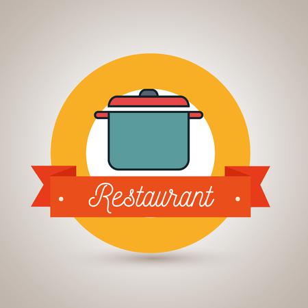 olla de cocina restaurante icono ejemplo gráfico del vector Ilustración de vector