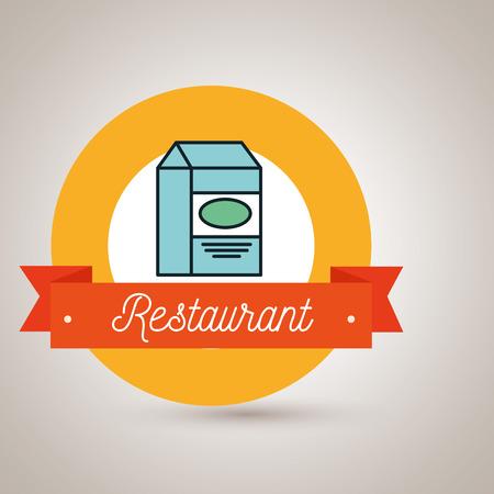 carton de leche: box milk carton restaurant vector illusration graphic