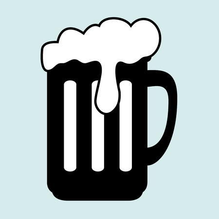 cup glass beer icon vector illustration graphic