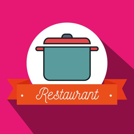 olla de cocina restaurante icono ejemplo gráfico del vector