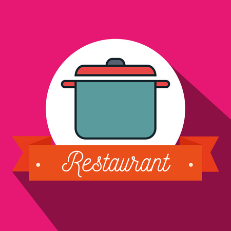 resturant: pot cook resturant icon vector illustration graphic