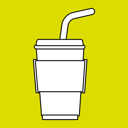 plastic straw: cup plastic straw icon vector illustration graphic