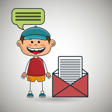 boy guy message chat vector illustration graphic Illustration