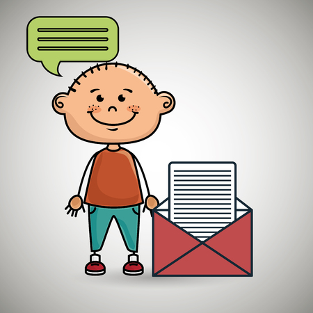 boy guy message chat vector illustration graphic Illustration