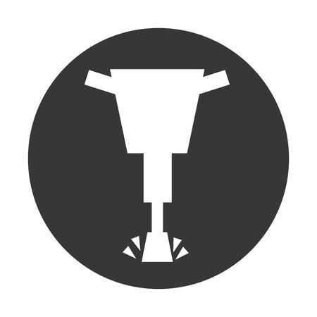 pneumatic: hammer hydraulic isolated icon vector illustration design