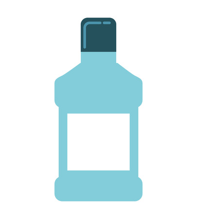 mouthwash: mouthwash bottle isolated icon vector illustration, eps10