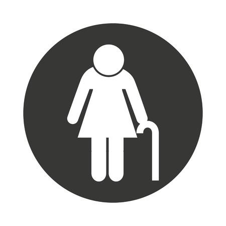 grandparent: grandparent silhouette isolated icon vector illustration design Illustration
