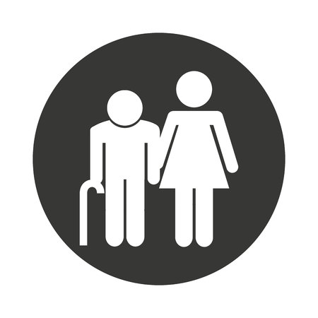 family members: family members isolated icon vector illustration design Illustration