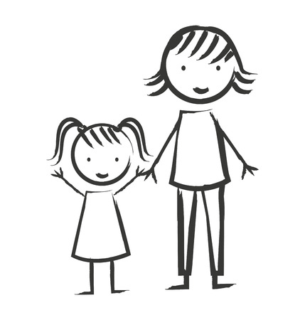 family isolated: family members isolated icon vector illustration design Illustration