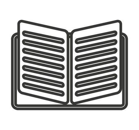 read magazine: text book isolated icon vector illustration design Illustration