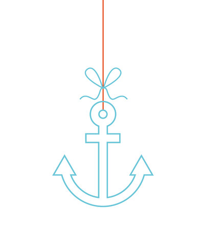 summer hanging concept isolated icon vector illustration design