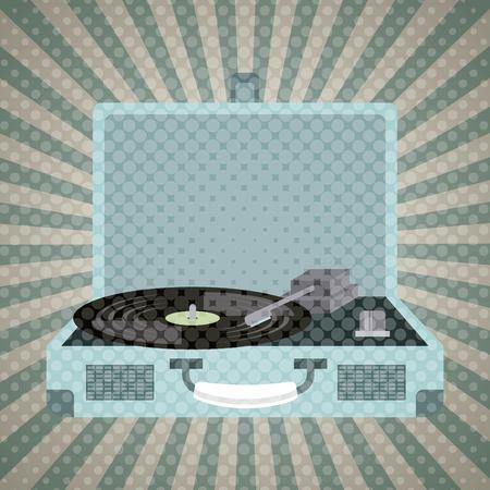music vintage old popart design, vector illustration Illustration