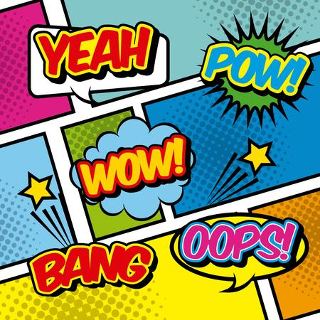 ooops: pop art vintage design, vector illustration