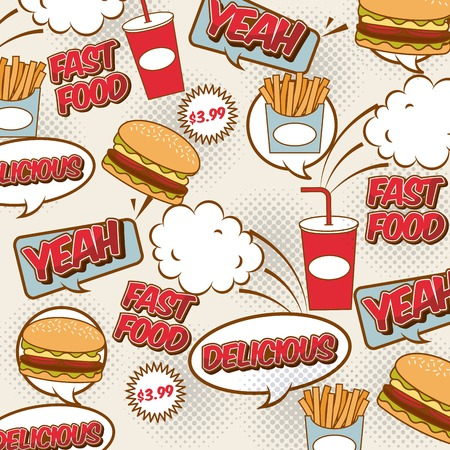 fast food pop art design, vector illustration Stok Fotoğraf - 61157480