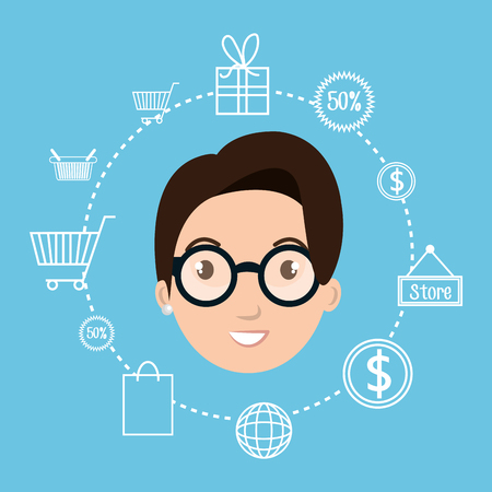 store sign: character money buy web vector illustration graphic Illustration