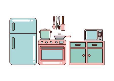 comfort food: kitchen home appliances vector illustration, graphic design