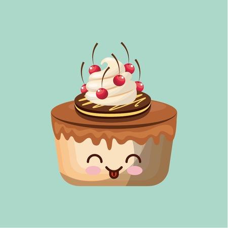 celebration smiley: sweet cupcake design, vector illustration  graphic Illustration