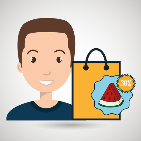 character buy discount fruit vector illustration graphic