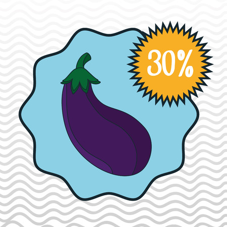 grocery shelves: icon fruit vegetable discount vector illustration graphic Illustration