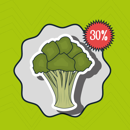 fruit and vegetable: icon fruit vegetable discount vector illustration graphic Illustration