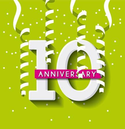 aniversary: aniversary card icon design, vector illustration