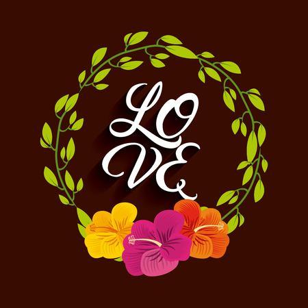 natura: love card icon design, vector illustration Illustration