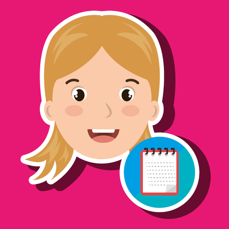 student girl school icon vector illustration graphic