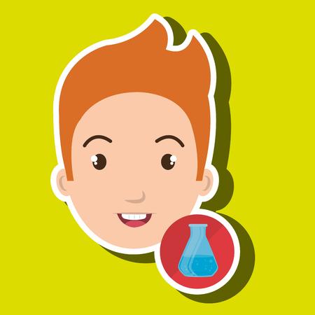 student boy school icon vector illustration graphic Illustration