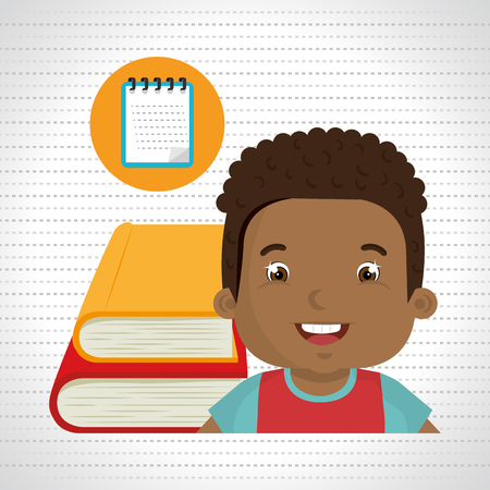 student with books: student books school elements vector illustration graphic Illustration