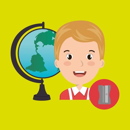 student map global school vector illustration graphic