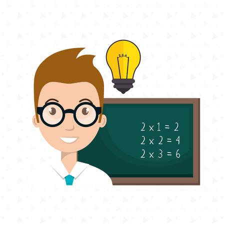 schoolbestuur idee student vector grafische illustratie