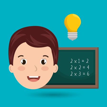 leccion: school board idea student vector illustration graphic